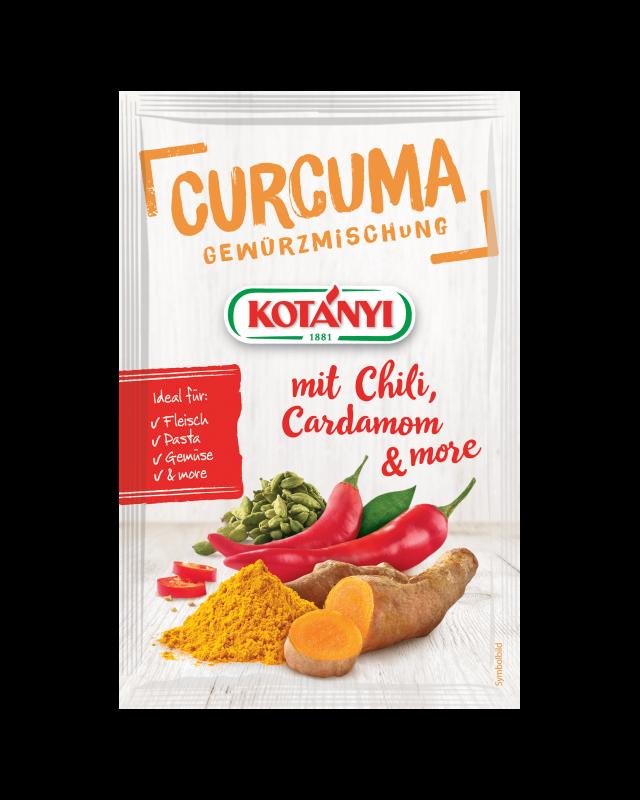 Kotányi Curcuma mit Chili, Cardamom & More Gewürzmischung im Brief
