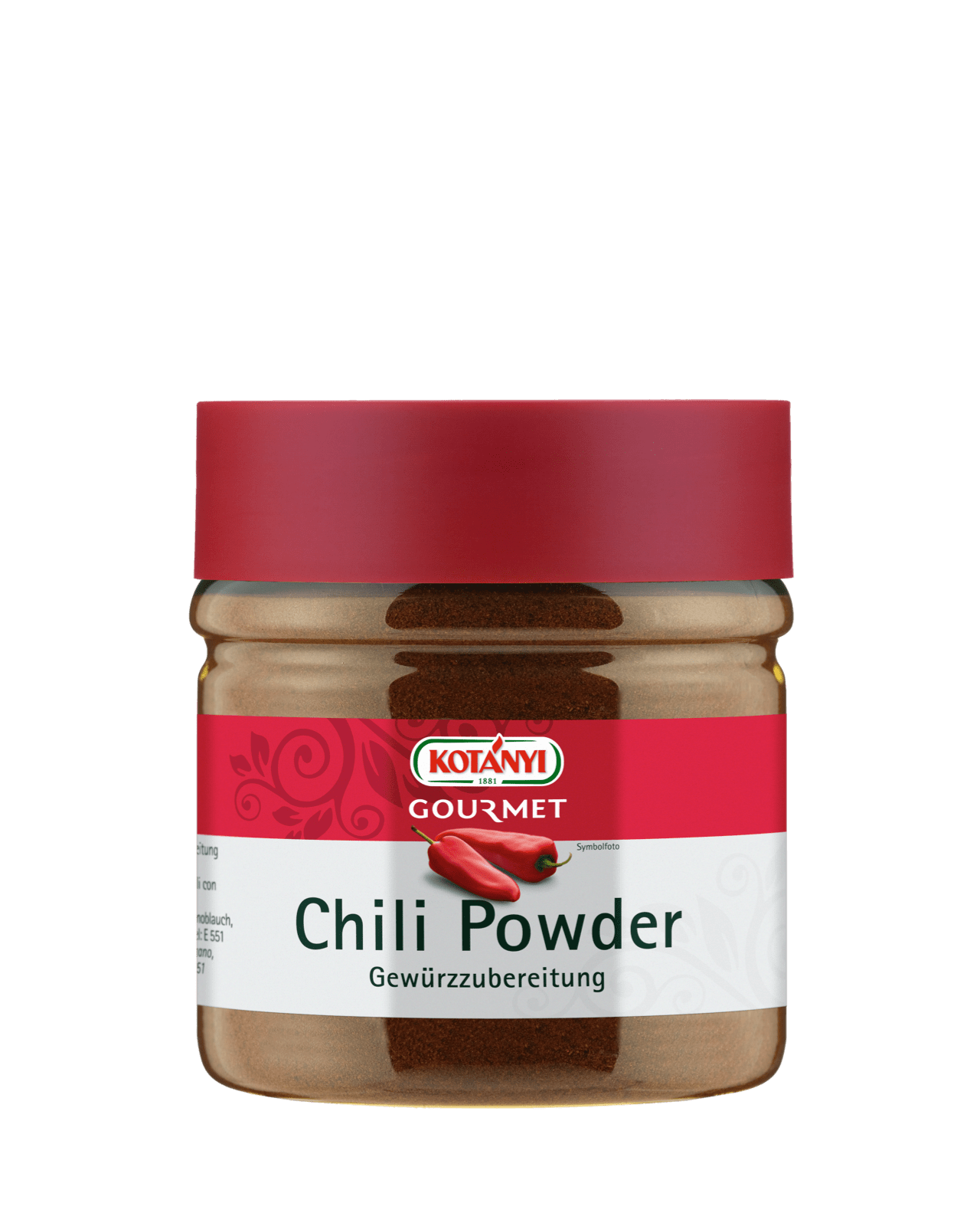 Kotányi Gourmet Chili Powder in der 400ccm Dose