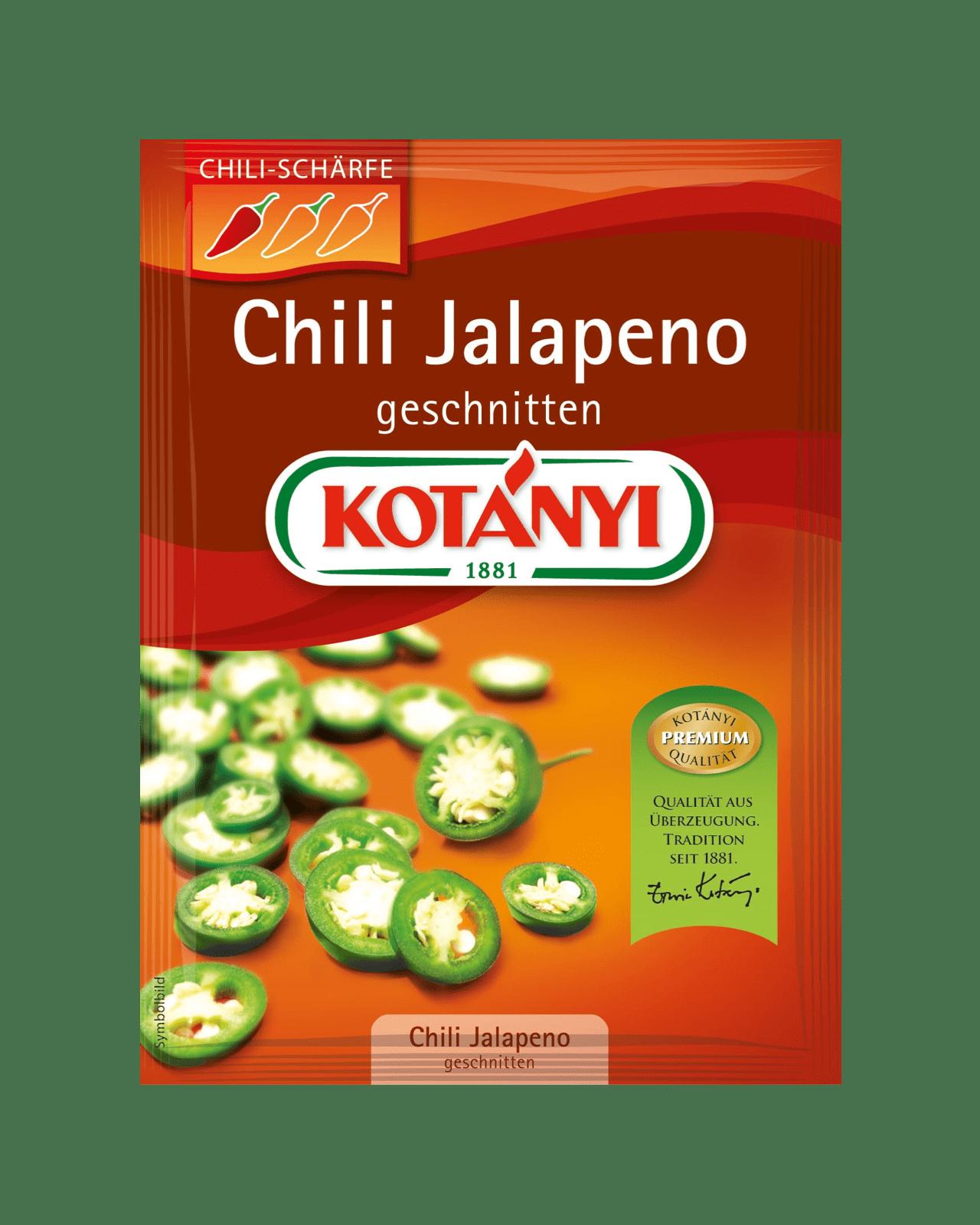 Kotányi Chili Jalapeno geschnitten im Brief