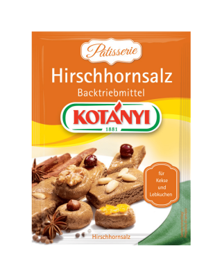 Kotányi Hirschhornsalz Backtriebmittel im Brief
