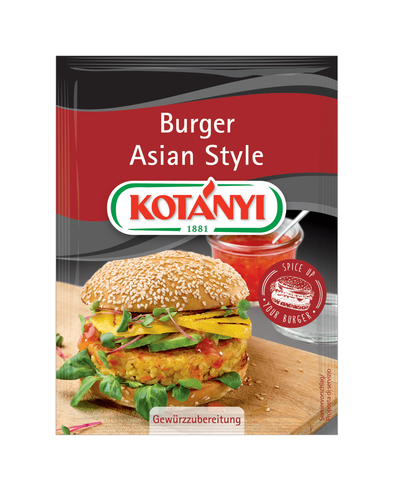 Kotányi Burger Asian Style im Brief
