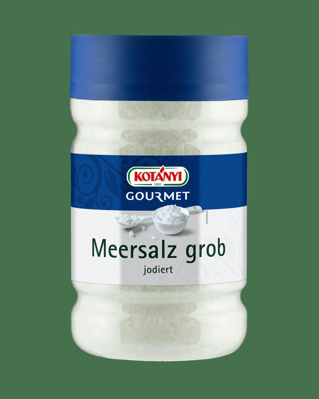 Kotányi Gourmet Meersalz grob in der 1200ccm Dose