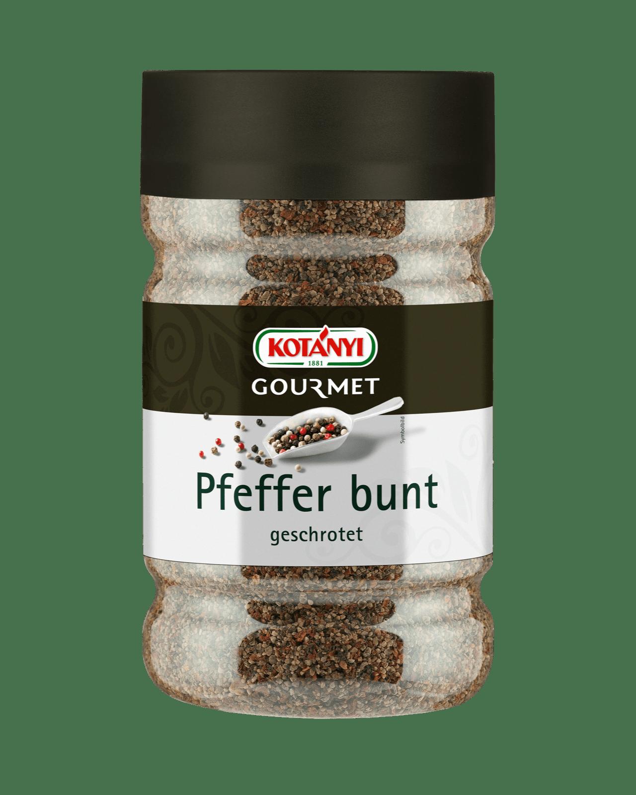 Kotányi Gourmet Pfeffer bunt geschrotet in der Dose