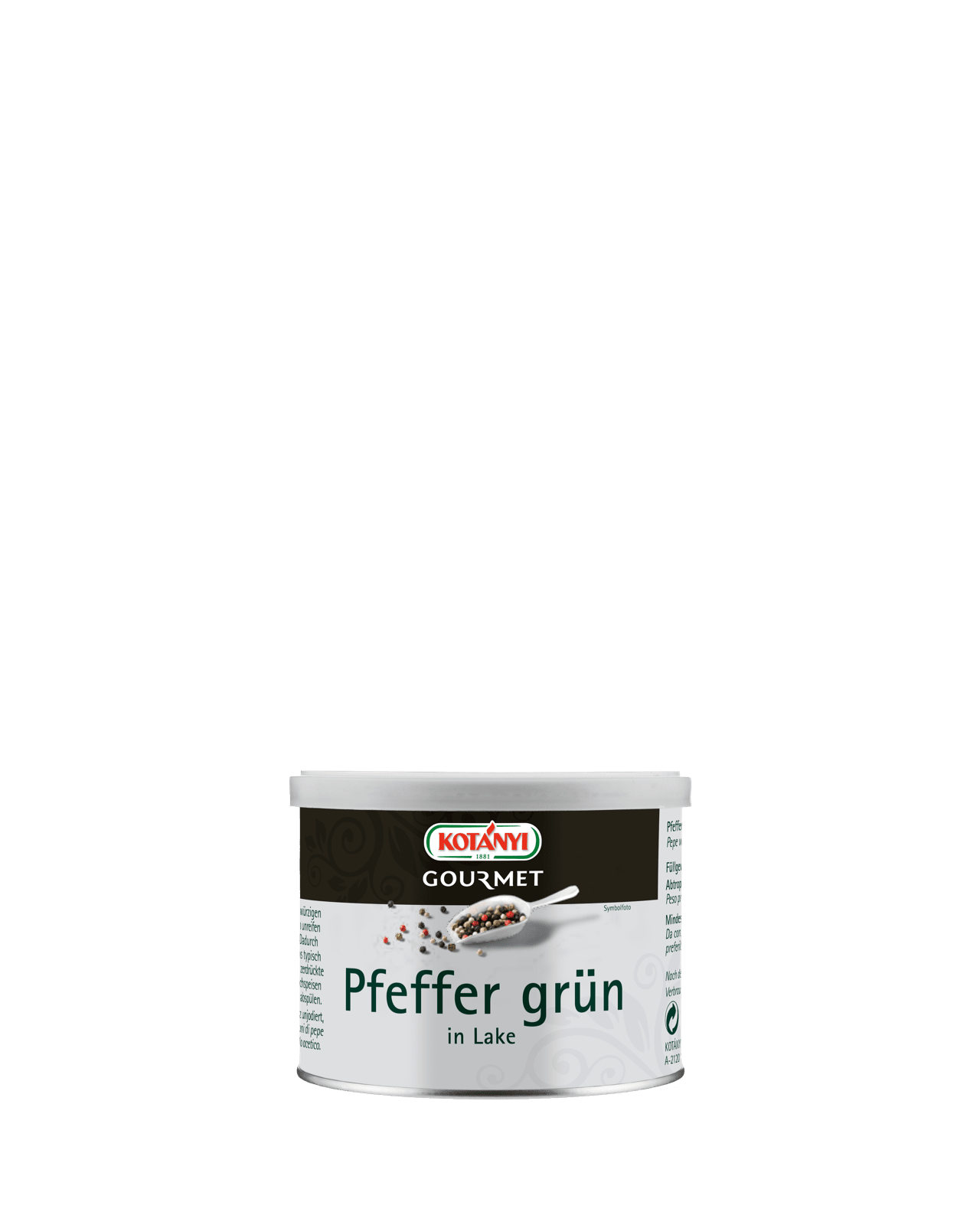 Pfefferkoerner Gruen In Lake Kotanyi Gourmet 100g Konserve 500201