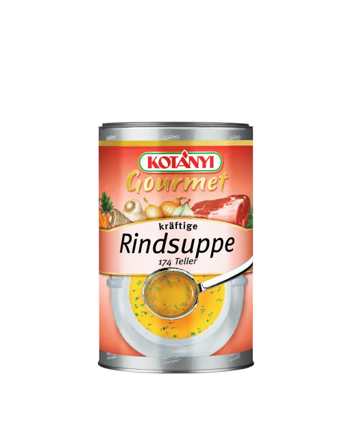 Rindsuppe kraeftig Kotanyi Gourmet 1kg Pappdose 252001
