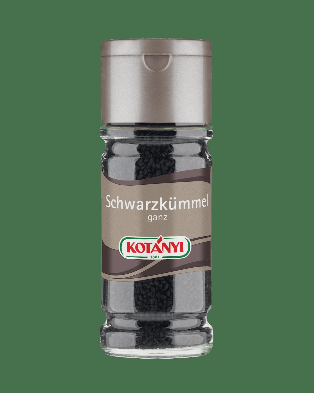 Kotányi Schwarzkümmel ganz im 100ml Glas