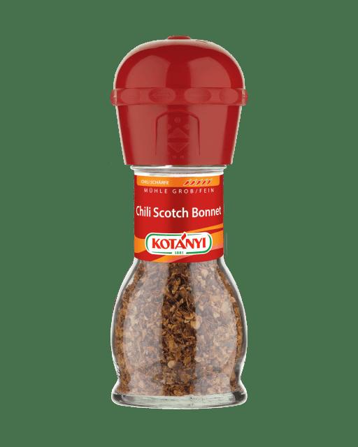 Chili Scotch Bonnet in der Mühle