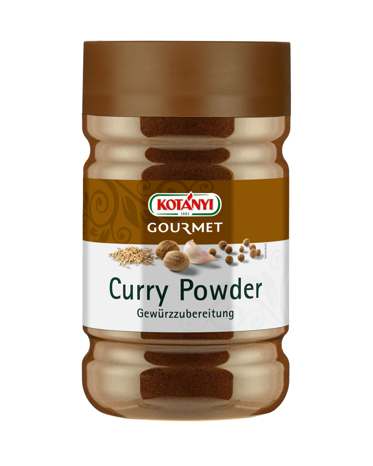 Kotányi Gourmet Curry Powder in der 1200ccm Dose
