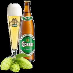 Gösser Märzen Bier mit Hopfen