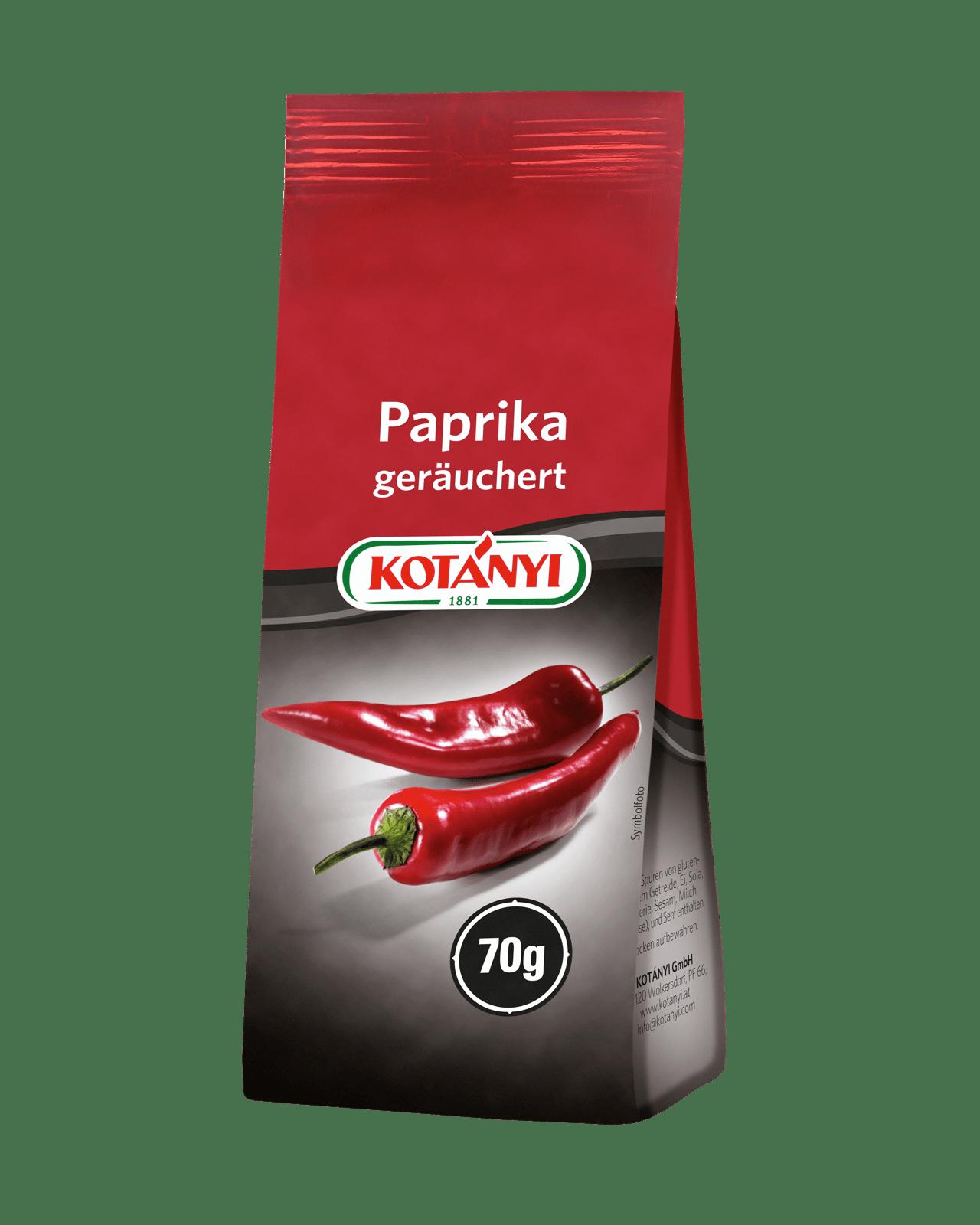 Kotányi Paprika Geräuchert in de 70g Vorratspackung