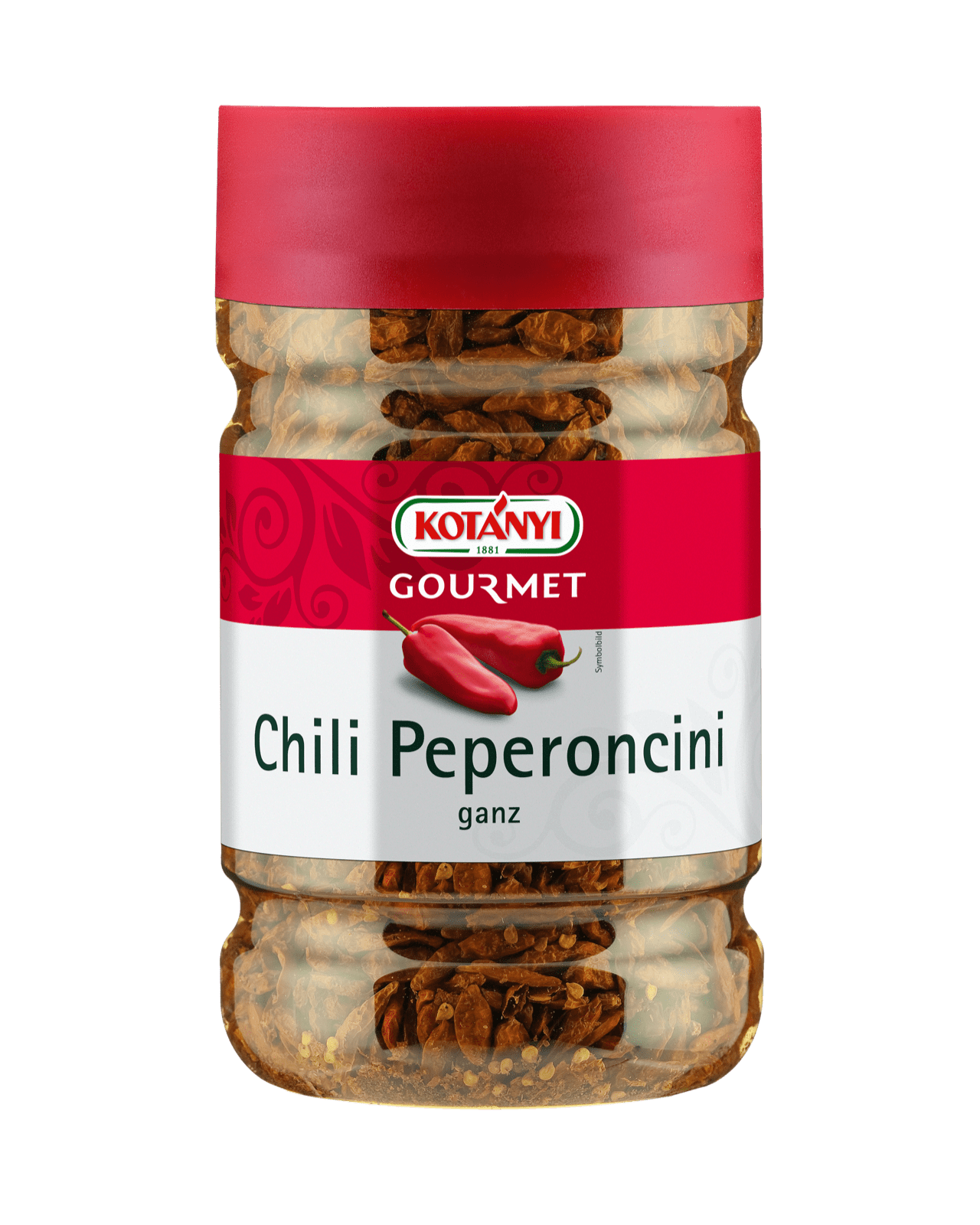 Kotányi Gourmet Chili Peperoncini ganz in der 1200ccm Dose