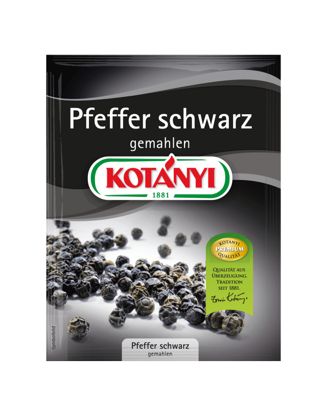 Kotányi Pfeffer Schwarz gemahlen im Brief
