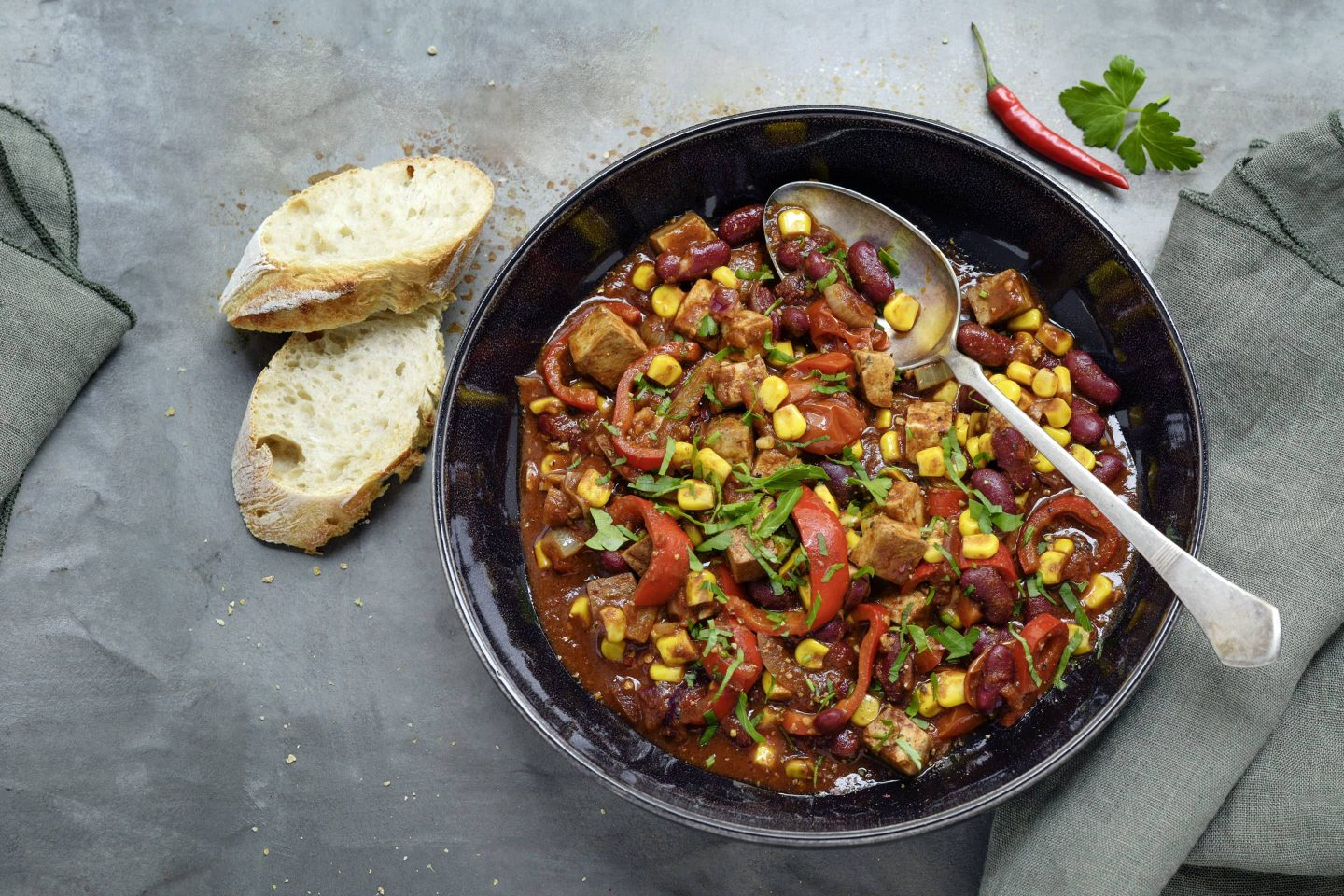 Chili sin Carne mit VEGGY HOt+Spicy