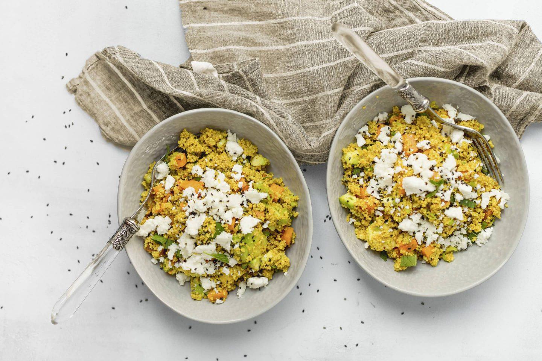 Couscous-Feta-Salat mit Süßkartoffel und VEGGY Exotic