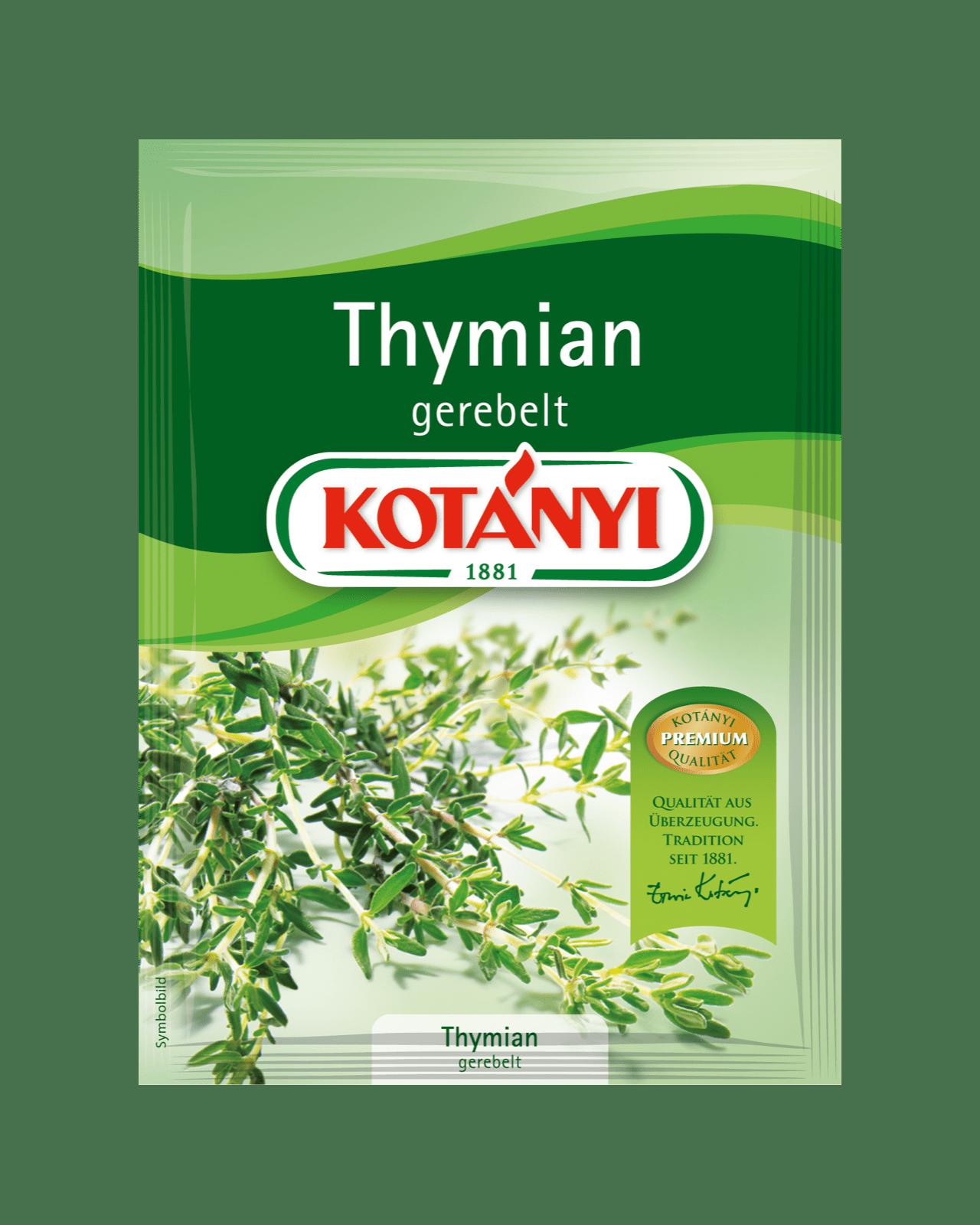 Kotányi Thymian gerebelt im Brief