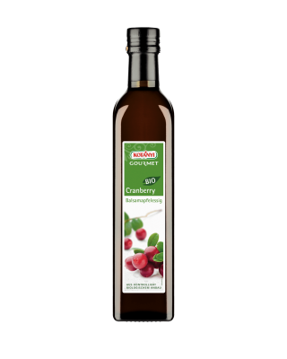 Kotányi Gourmet Bio Cranberry Balsamapfelessig in der 500ml Flasche