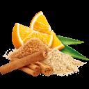 Zimt mit Orangen, Agaven und Zucker