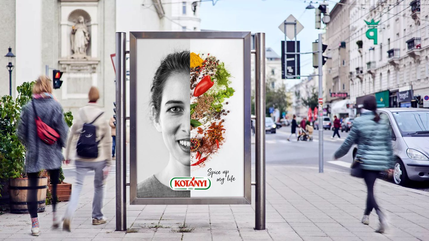 Kotányi Spice Up My Life Plakat in Wien