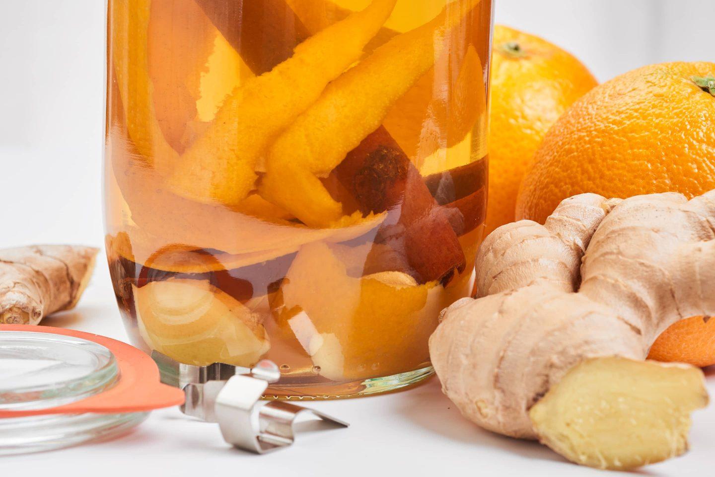 Orange Ginger Vinegar