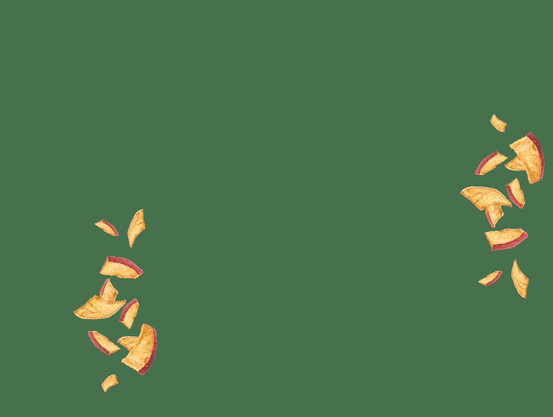 fliegende Apfel Chips
