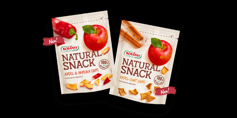 Natural Snack mit Apfel-Zimt oder Apfel und Paprika