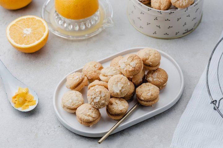 Orangenplaetzchen Mit Marzipan