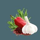 Sumach, Knoblauch, Paprika und Rosmarin