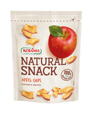 Apfel Chips Natural Snack im Standbeutel