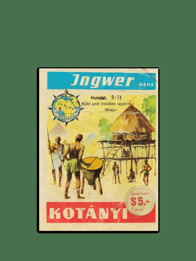 Eine Briefverpackung von Kotányi aus den 70er Jahren