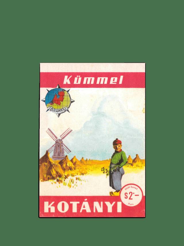 Eine Kotányi-Briefverpackung mit Kümmel von 1961
