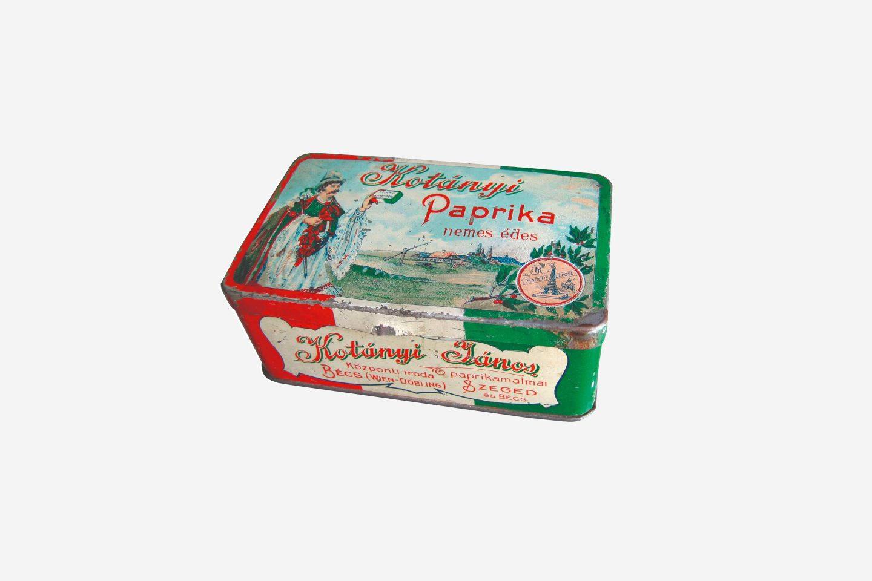 Verpackung von Kotányi Paprikapulver von 1900