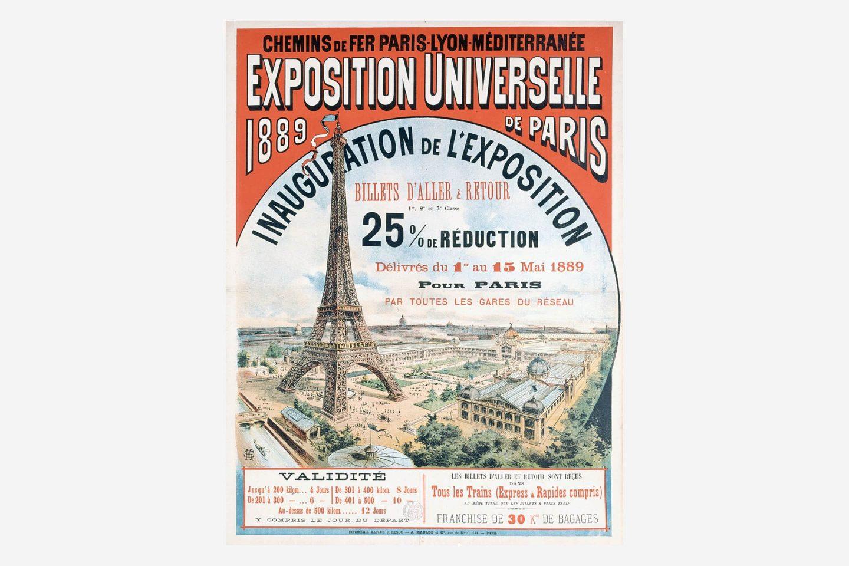 Poster der Pariser Weltausstellung 1889