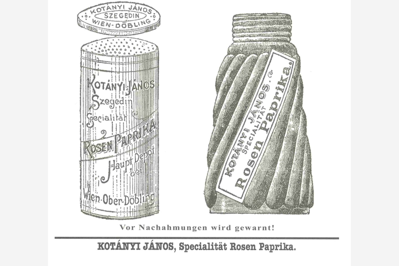Kotányi Paprikasteuer von 1900