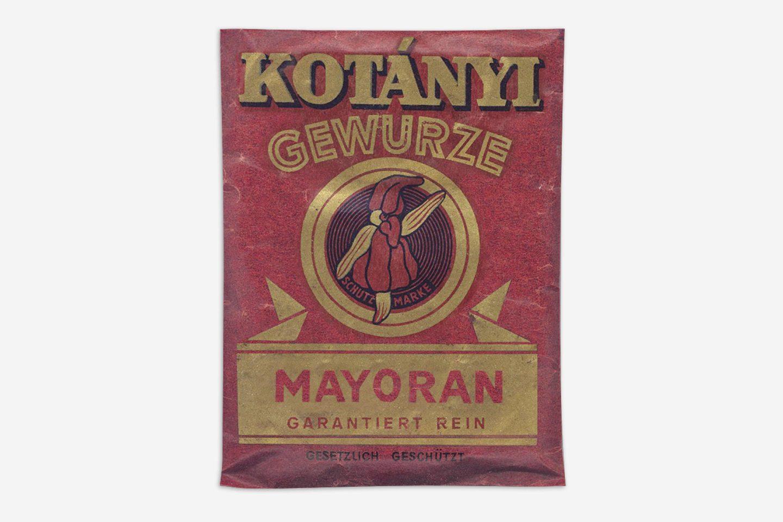 Ein Kotányi-Brief mit Majoran von 1900