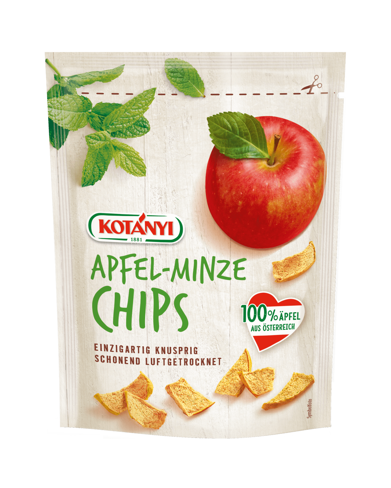 Kotányi Apfel Chips mit Minze
