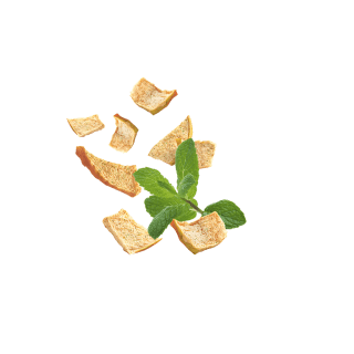 Fliegende Kotányi Apfel Chips mit Minze.