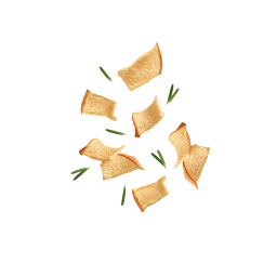 Fliegende Kotányi Apfel Chips mit Rosmarin.