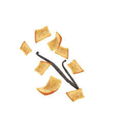 Fliegende Kotányi Apfel Chips mit Vanille.