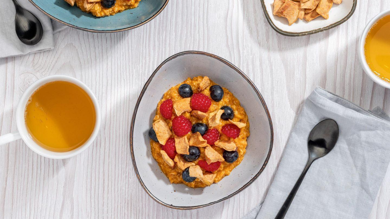 An besonderen Tagen gibt es Porridge zum Frühstück.
