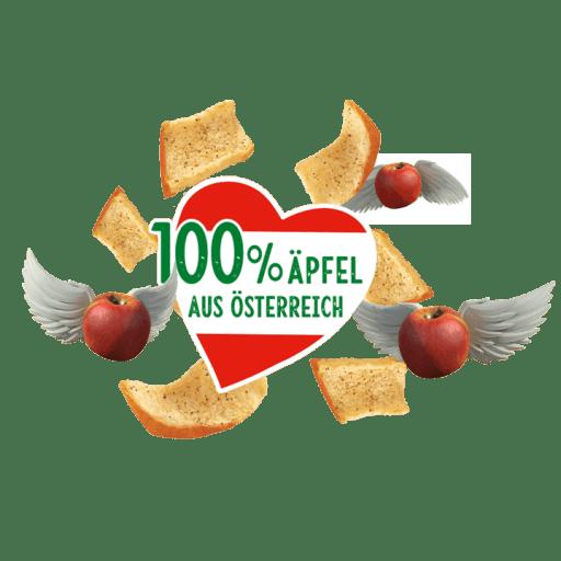 Die Kotányi Apfel Chips sind zu 100% mit Äpfeln aus Österreich gemacht.