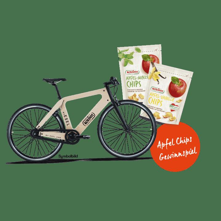 Gewinne jetzt ein My Esel Fahrrad und Kotányi Apfel Chips für deinen nächsten Ausflug