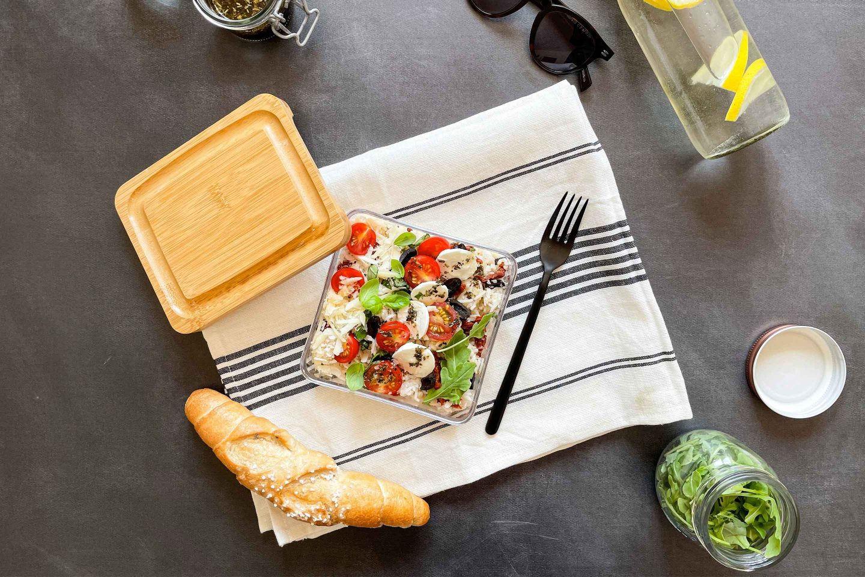 Unser frischer italienischer Reis-Salat macht auch zu Hause Urlaubsstimmung.