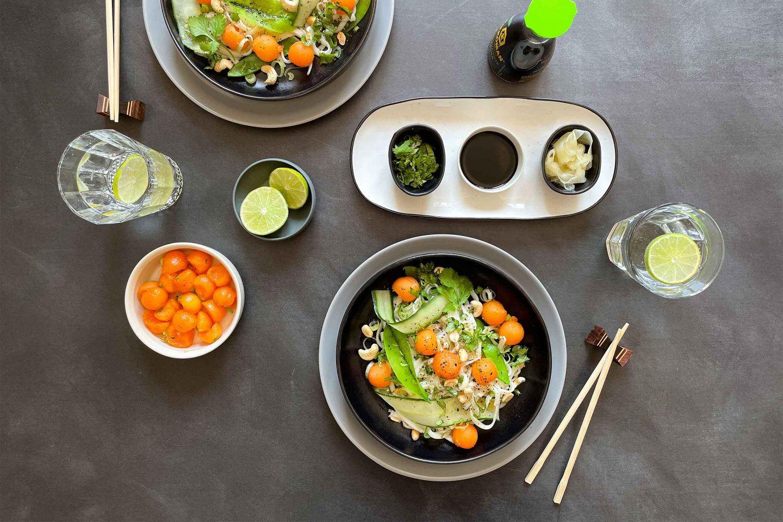Unser Udon Nudel Salat mit Melone ist frisch und leicht – perfekt für den Sommer.